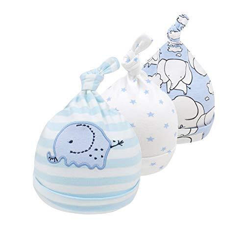 mini eggs 3 Pack Baby M¨¹TZE Neugeborene Beanie Knoten H¨¹te Baumwolle...