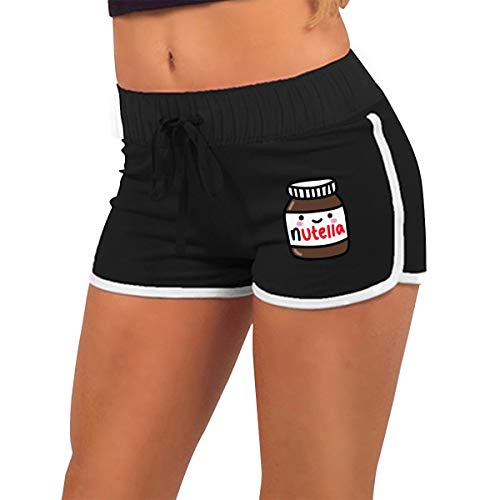 Ruby Fondos Tumblr Nutella Women's Low-Waisted Sexy Booty Hot Shorts Gym Black