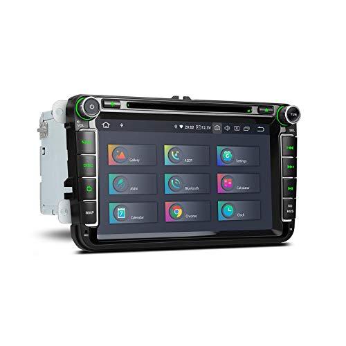 8 'Doble DIN Android 10.0 Estéreo para automóvil DSP incorporado 4GB + 64GB Unidad principal de 6 núcleos Navegación GPS Radio Reproductor de DVD Soporte Salida HDMI Bluetooth WIFI CarAutoPlay DVR DA