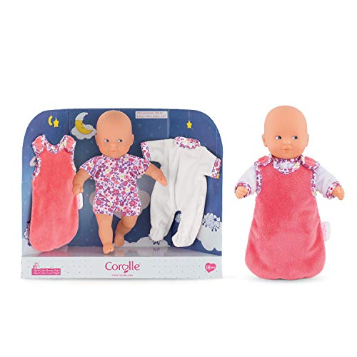 Corolle - Mini Calin Good Night - 8' Soft Body Baby Doll with Pajamas and Bag Sleeper