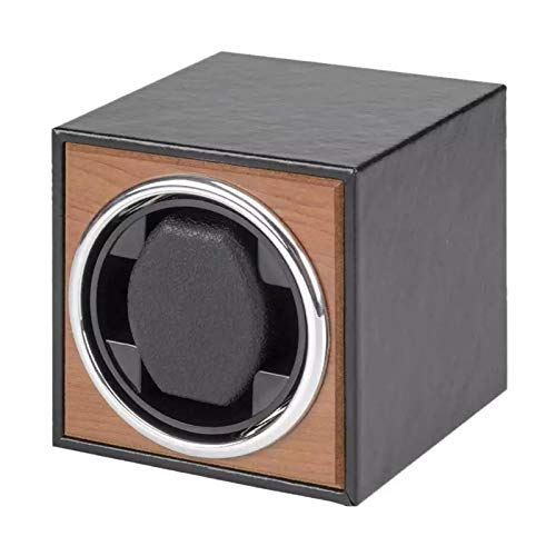 Soporte de reloj Reloj Windoer - Relojes automáticos Motor vertical Shaker Súper tranquilo Reloj de pulsera Organizador de almacenamiento Caja de reloj de madera 3 Modo de rotación Reloj Unido Underna