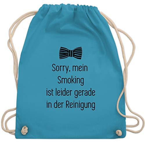Shirtracer Statement - Sorry, mein Smoking ist in der Wäsche - Unisize - Hellblau - turnbeutel sorry - WM110 - Turnbeutel und Stoffbeutel aus Baumwolle