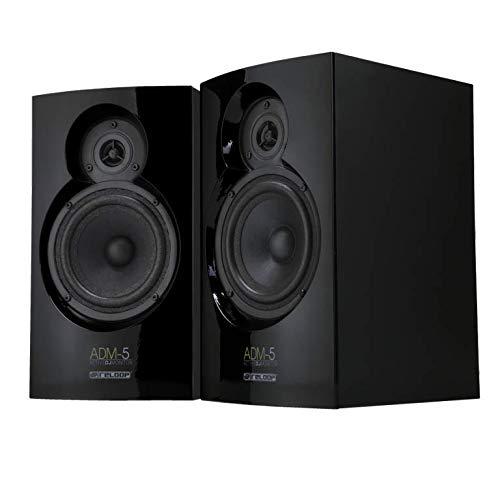 Reloop ADM-5 (Paar) - 2-Wege Aktiv DJ-Monitore, 2x 30 W RMS, magnetisch abgeschirmte Basstreiber, Frequenzgang: 35 Hz - 20 kHz, schwarz