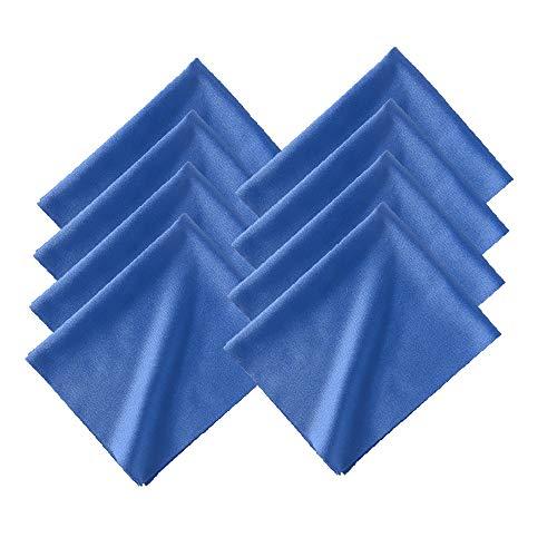 テイジンフロンティア シルクタッチマイクロファイバークロス メガネ拭き 約20×16㎝ 青8枚セット