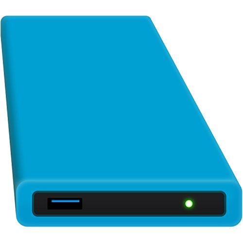 HipDisk Custodia per hard disk esterno da 63,5 mm, USB 3.0in alluminio per SATA HDD e SSD antiurTB idrorepellente Blu