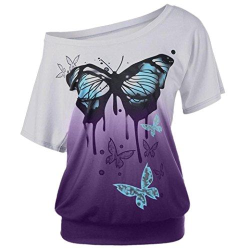 T-Shirt da Donna, ASHOP Casual T-Shirt, Maniche Corte...