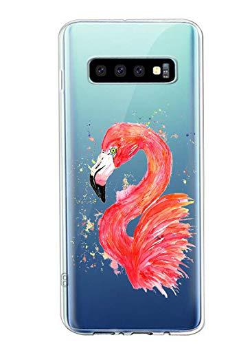 Oihxse Compatible con Samsung Galaxy J4 2018 Funda Suave Gel TPU Silicona Cristal Transparente Carcasa Acuarela Animal Pintado Patrón Protectora Estuche Bumper Caso Case (B8)