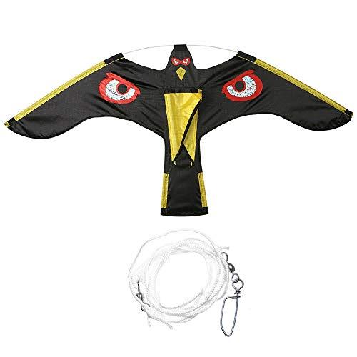 FLLOVE Emulación de Aves Negro Repelente de halcón Cometa del Vuelo del...