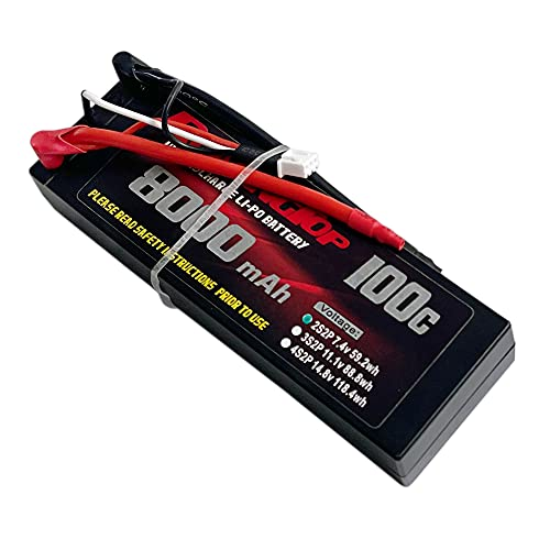 ROARING TOP 2S Lipo Battery 7.4V 8000mAh 100C RC Battery With 5.0mm Bullet...