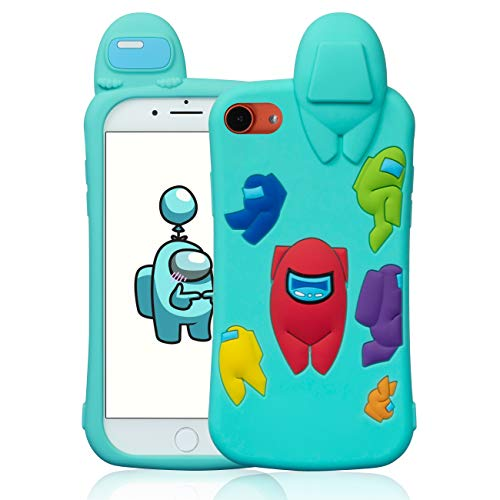 Darrnew Blue Among Case for iPhone 6/6S/7/8/SE 2020 Cartoon Silicone Cute...