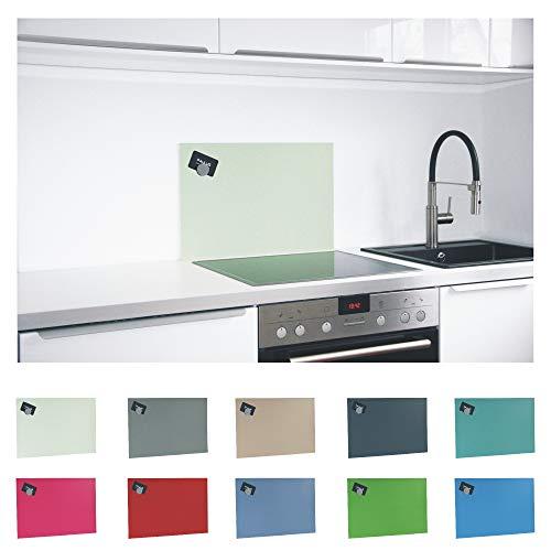 Paulus Spritzschutz Küche Herd Küchenrückwand magnetisch 60x40cm grün, RAL-6019 weissgrün