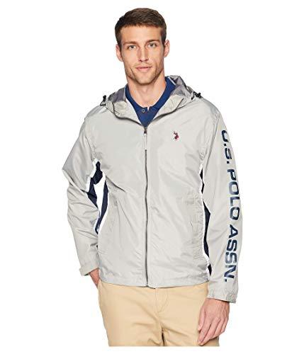 U.S. POLO ASSN. Herren Tri Color Windbreaker Jacket Windjacke, Vapor Grey, X-Large