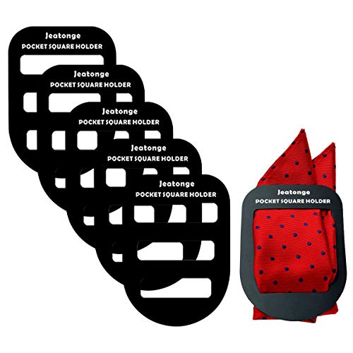 Jeatonge Pocket Square Holder Keeper Organizer Pocket Squares For Men Prefolded (5)