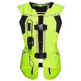 ZZJCY Chaleco de airbag para motocicleta, sistema de bolsa de aire profesional para motocross, chaleco de ciclismo, hecho de lona gruesa y forro de malla transpirable, hebilla verde, L