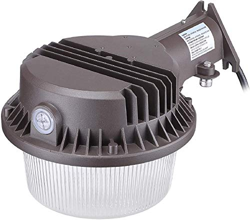 TORCHSTAR 43W LED Dusk to Dawn Barn Light, 120-277V, Outdoor Area Light with Photocell, Wet...