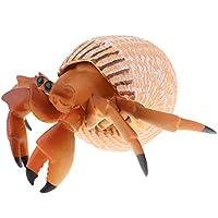 #N/A シミュレーションサメ置物玩具動物モデルホームデスク装飾品キッズ玩具 - ヤドカリ