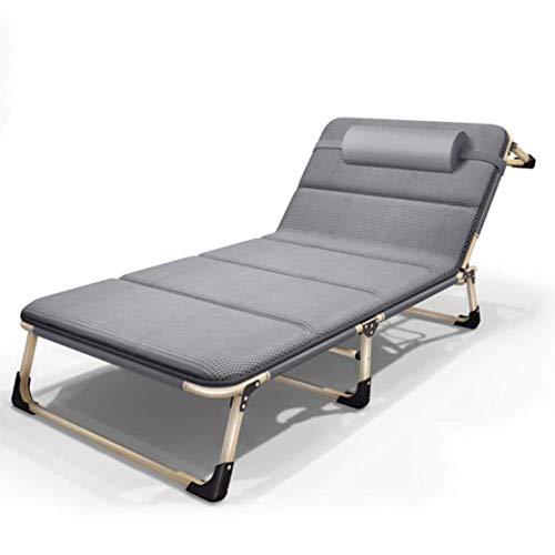 Premium gewatteerde Zero Gravity-stoel Heavy Duty Outdoor opvouwbare ligstoel met hoofdkussen - gemaakt van stalen frame voor terras, serre of ligstoel, grijs