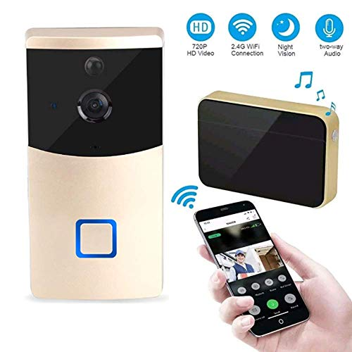 Mengen88 Video Deurbel Systeem, 166° Visual HD Night Vision 720P IR Wifi Video Intercom Draadloze Afstandsbediening Deurbel Alarm voor iOS en Android Smart Phone