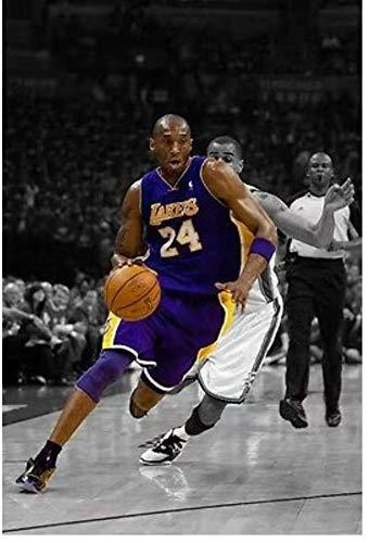 JIANGGE the great Creative canvas poster 24 and 8 jerseys 50X70cm frameless basketball star Kobe Bryant basketball star