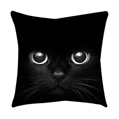 2019 Nuovo Moda Nero Occhi di Gatto Rose Black Gold Cuscino Quadrato Morbido Federa casa Decoratio 45cm×45cm/ 18 × 18 Pollici By WUDUBE