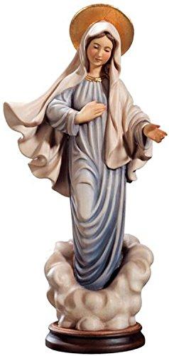Holzfigur Madonna von Medjugorje coloriert - Dolfi