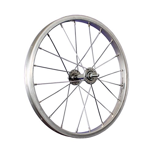 Taylor-Wheels 16 Zoll Vorderrad Laufrad Alu Kastenfelge/Vollachse - Silber