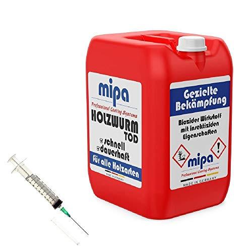 MIPA Holzwurmtod/Holzwurmex 10l plus einmal Injektionsspritze