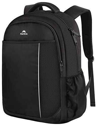 Middle School Backpack, Student Backpack Laptop Bag for Men Women Boys Girls, Cute Lightweight Water-Resistant Slim Computer Bookbag for Middle High School Student, Fits 14 inch Laptop - Black