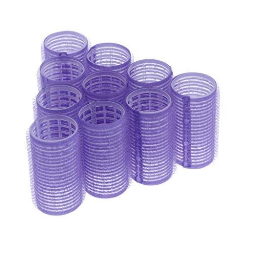 10X Self Grip Holding Hair Rollers Curlers, Hairdressing Curlers Hair Design Sticky Cling Style for DIY or Hair Salon (8 Sizes Small/Medium/Large) - 32mm