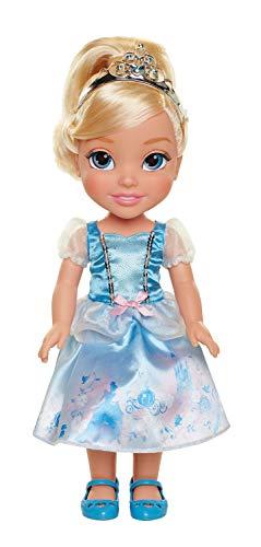 Jakks 78848-11L-6 - Disney Princess Cinderella, Puppe ca. 35 cm groß, beweglich, mit wunderschönem Kleid und Royal Reflection Augen, für Kinder ab 3 Jahre