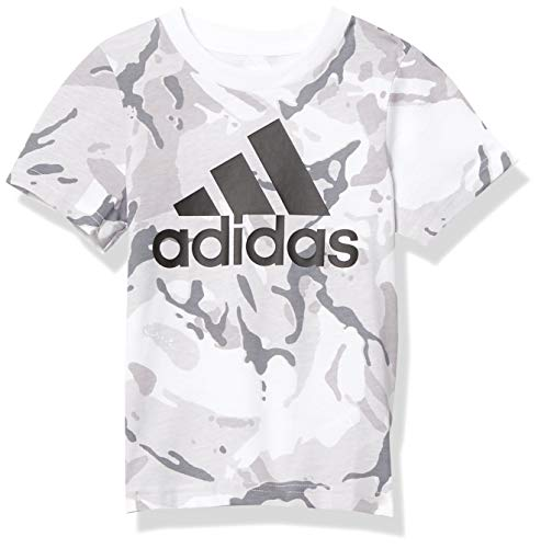 adidas Boys' Short Sleeve Cotton Jersey Logo T-Shirt Tee