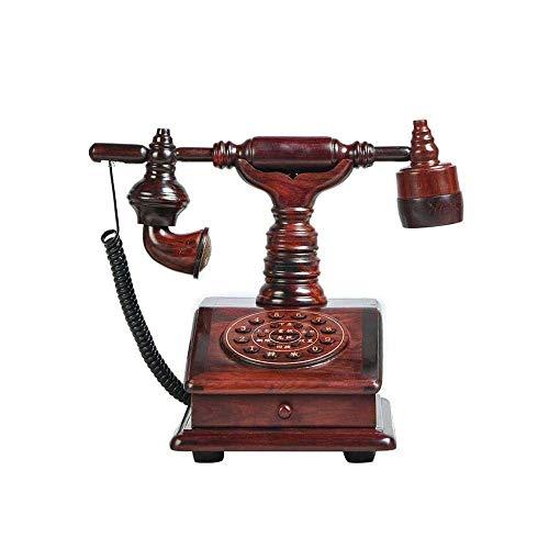 Ldlzjdh Festnetz Telefon-Mahagoni-Festnetzanschluss, Vollholz-Tastenfeldwahl, kabelgebundenes Mobiltelefon, DREI optional Festnetz (größe : A)