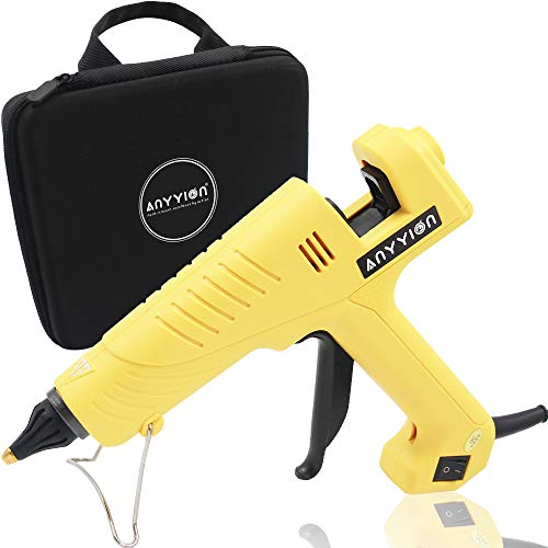 Anyyion 200W Industrialt Glue Gun – High-Output Hot Melt Glue Gun – Professional Grade Hot Glue Gun for Carpentry, Repairs & Remodeling