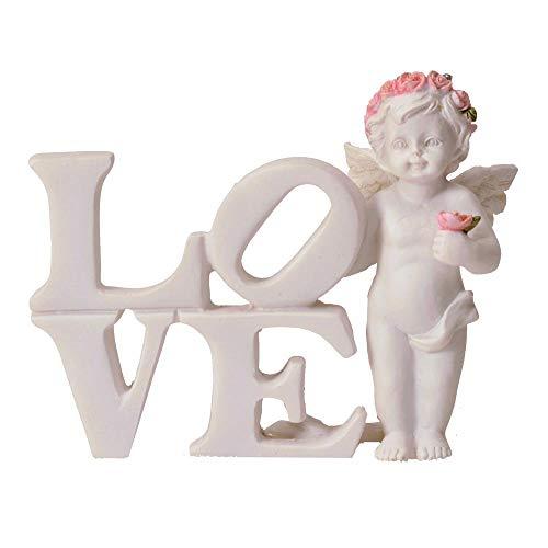 trendaffe Engel Dekofigur mit Love Schriftzug - Engelchen Deko Figur