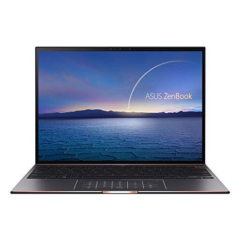 """ASUS ZenBook S UX393EA-HK003T - Ordenador Portátil de 13.9"""" (Intel Core i7-1165G7, 16GB RAM, 512GB SSD, Intel Iris Xe Graphics, Windows 10 Home) Negro Jade-Teclado QWERTY español"""