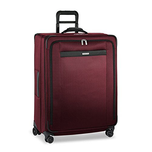 Briggs & Riley Transcend-Softside Expandable Large Checked Spinner Luggage, Merlot