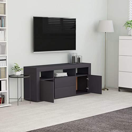 WooDlan Mueble TV Salón |Mueble para TV aglomerado Gris,120x30x50cm