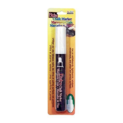 Uchida 480-C-0 Marvy Broad Point Tip Regular Bistro Chalk Marker, White