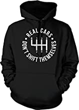 NOFO Clothing Co Real Cars Don't Shift Themselves Hooded Sweatshirt, M Black