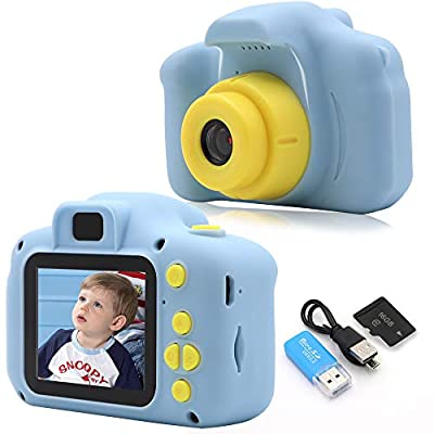 Rindol Toys for 4-9 Year Old Boys,Kids Camera Compact for Child Little Hands, Smooth Shape Toddler Camera,Best Birthday Gifts for 4 5 6 7 8 9 Year Old Boys by Rindol
