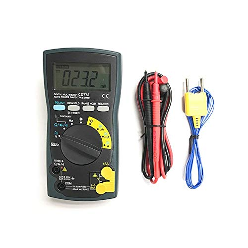 L-YINGZON Multímetros eléctrico CD770 estándar multímetro digital On-Off Bip datos de bloqueo...