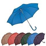 Bisetti - Clima Paraguas Grande Automático | Paraguas Antiviento Ideal para Viajes, Hombre y Mujer, Azul