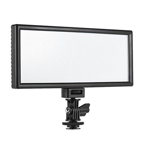 Andoer Viltrox L132T Profesional Ultra Delgado LED Luz Video Fotografía Brillo Ajustable y Temperatura Max Brillo 1065LM 3300K-5600K CRI95+ para Cámara
