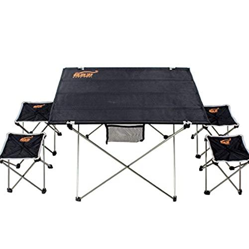 KDMB Klappstuhl Outdoor Angelstuhl Set, Klappbare Rückenlehne Outdoor Camping Strand Rucksack Stuhl Hocker Tragbarer Angelsitz Camping Patio Stuhl, schwarz