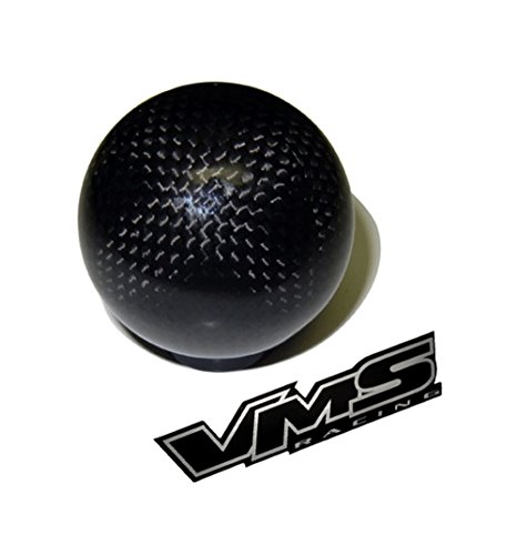 VMS Racing m16x1.50 Threaded (NO adapters) 5 Speed 6 Speed Round Ball Real Hand-Laid Carbon Fiber Shift KNOB Gear Shifter Selector Type-R Type-S for Pontiac Firebird 16x1.50mm