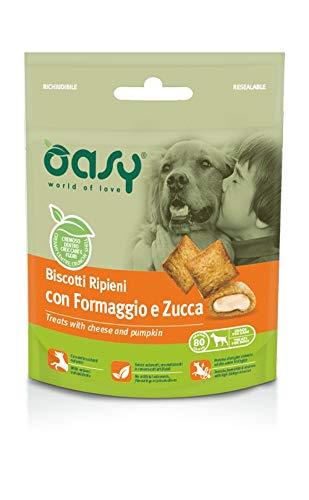 Oasy Biscotti Ripieni con Formaggio e Zucca per Cani - 80 gr