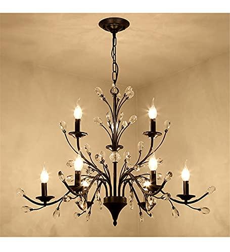 XYQCPJ Personalidad Creativa Lámpara De Araña, Americanos Iluminación En Forma De áRbol De Cristal Candelabro Mediterráneo Lámparas Nórdicas para Sala De Estar Dormitorio Comercial