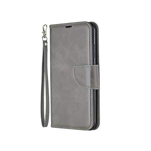 Fun-boutique - Funda de piel para Samsung Galaxy A51 A71 A10 A20E A30 A50 S A40 A70 A3 A52017 A750 A01 A11 A21 A41 A70E funda con tapa Grey-Samsung A31