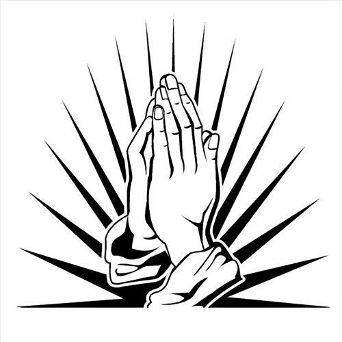 Gebetshände Abziehbilder Beten Anbetungsraum Vinyl Wandkunst Aufkleber Wohnzimmer Wanddekoration Aufkleber Home Wandbild Abnehmbar 42 * 45Cm