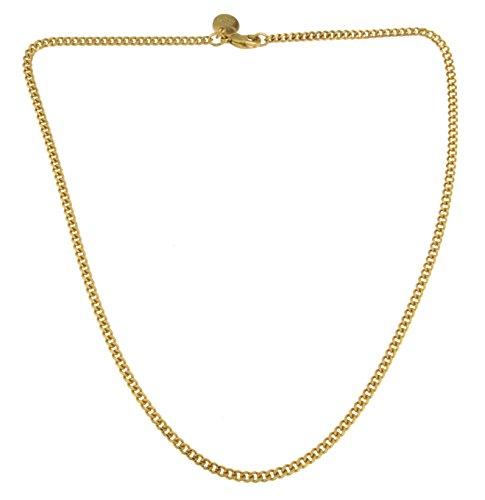Collar o Pulsera Cadena Gourmette 18k oro doublé joyeria desde la fábrica italiana tendenze regalo mujer y hombre